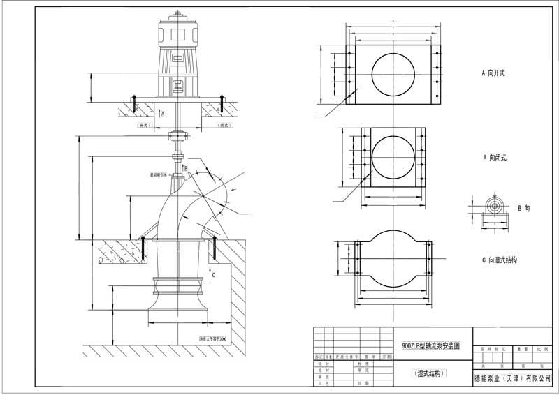 德能:立式轴流泵-安装图(湿式结构).jpg